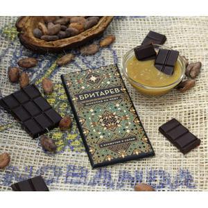 Ш-01 Шоколад на меду «БРИТАРЕВ», с кунжутом и солью
